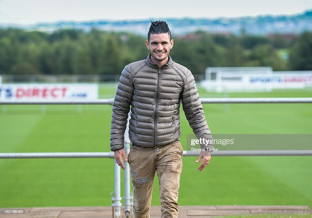 New signing Remy Cabella walks outside at The Newcastle United Training Centre on July 13, 2014 in Newcastle upon Tyne, England.