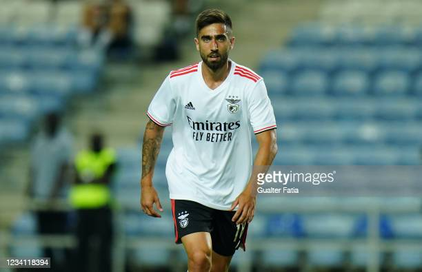 New signing Rodrigo Pinho of SL Benfica during the Pre-Season Friendly match between SL Benfica and Lille at Estadio Algarve on July 22, 2021 in...