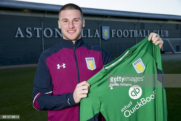 New signing Sam Johnstone of Aston Villa poses for a picture at the club's training ground at Bodymoor Heath on January 05 2017 in Birmingham England