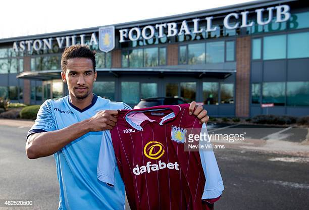 New signing Scott Sinclair of Aston Villa poses for a picture at the club's training ground at Bodymoor Heath on January 30 2015 in Birmingham England