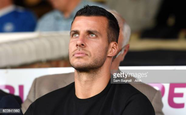 New signing Steven Taylor of Peterborough United prior to the preseason friendly between Peterborough and Wolverhampton Wanderers at ABAX Stadium on...