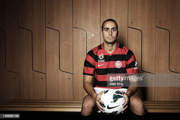 New signing Tarek Elrich poses before the launch of the new ALeague team Western Sydney Wanderers FC at Parramatta Stadium on June 25 2012 in Sydney...