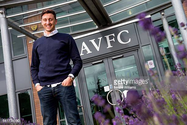 New signing Tommy Elphick of Aston Villa poses for a picture at the club's training ground at Bodymoor Heath on June 20 2016 in Birmingham England