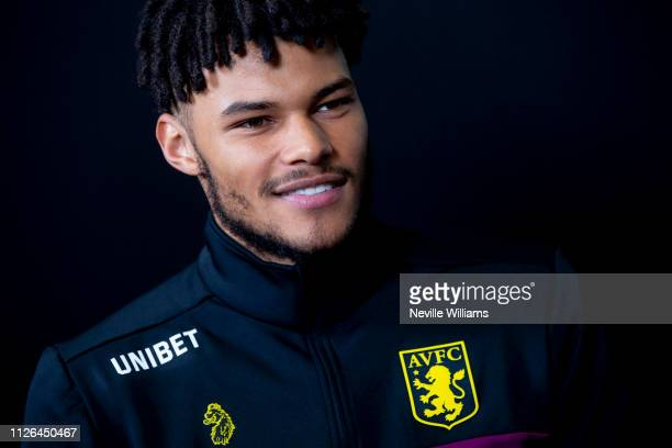 New signing Tyrone Mings of Aston Villa poses for a picture at Bodymoor Heath training ground on January 31 2019 in Birmingham England