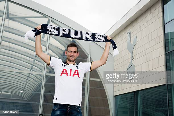 New signing Vincent Janssen of Spurs poses for a picture at Tottenham Hotspur Training Ground on July 12 2016 in Enfield England