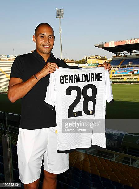 New signing Yohan Benalouane during his unveiling press conference at Ennio Tardini Stadium on August 21 2012 in Parma Italy