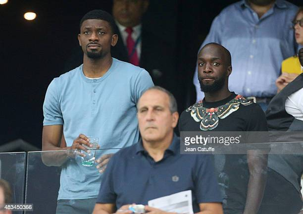 New signings of Marseille Abou Diaby and Lassana Diarra attend the French Ligue 1 match between Olympique de Marseille and SM Caen at Stade Velodrome...
