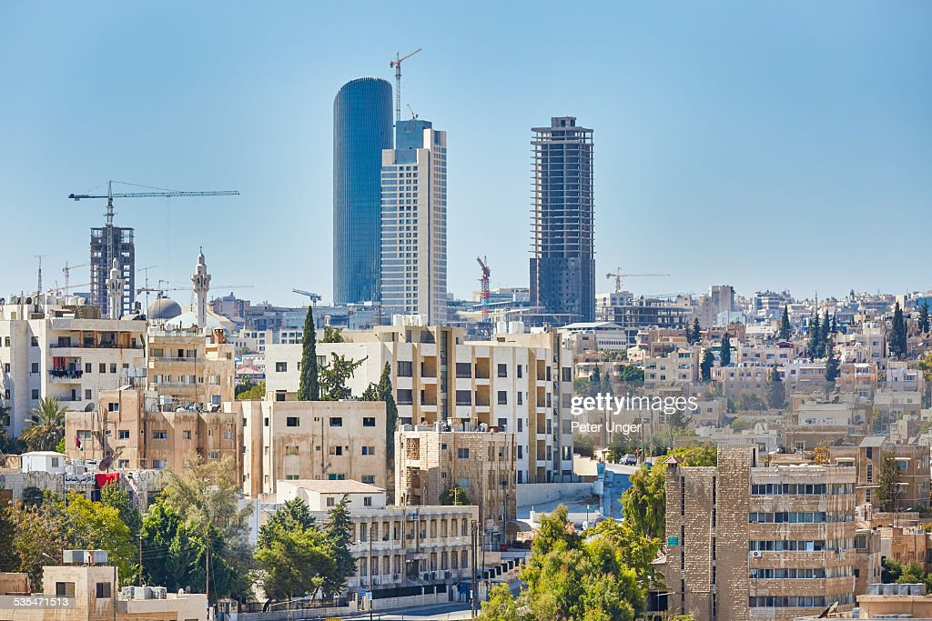 New Skyscrapers in Amman City : Stock Photo