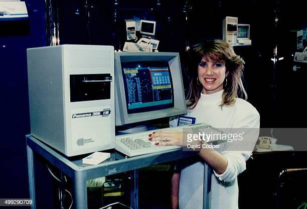 New software Debbie Benchimol demonstrates Microsoft's Windows software on the Ogivar computer