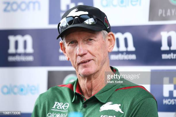New South Sydney Rabbitohs Coach Wayne Bennett speaks to the media during a NRL press conference at Redfern Oval at Redfern Oval on December 4 2018...