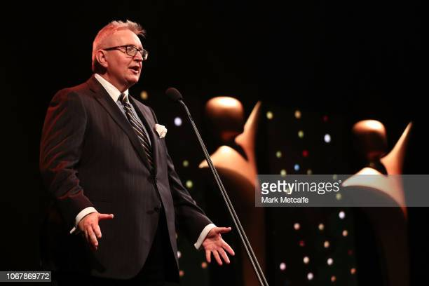 New South Wales Minister for the Arts Don Harwin speaks during the 2018 AACTA Awards Presented by Foxtel | Industry Luncheon at The Star on December...