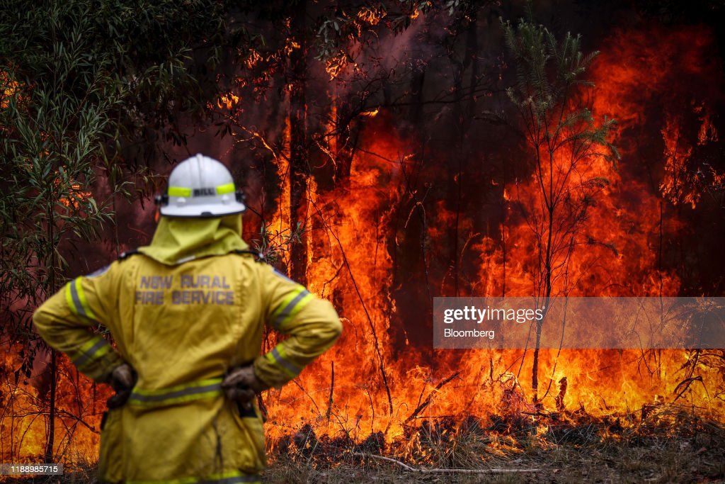 Back Burning Operations On The Outskirts of Sydney As The City's Wildfire Smoke Declared a 'Public Health Emergency' : Nieuwsfoto's