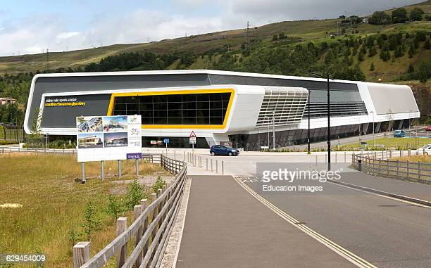 New sports center, The Works redevelopment area, Ebbw Vale, Blaenau Gwent, South Wales, UK.