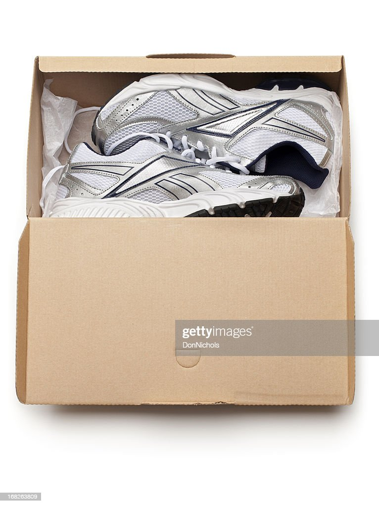 New Sports Shoes in Box : Stock Photo