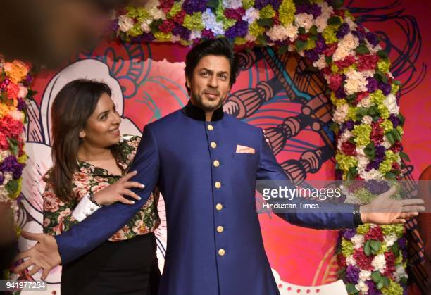 New Statue of Bollywood actor Shahrukh Khan unveiled at Madame Tussauds Museum an April 4 2018 in New Delhi India