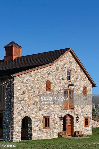 New stone barn construction