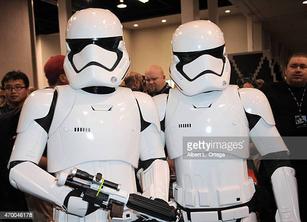 New Storm Troopers on Day One of Disney's 2015 Star Wars Celebration held at the Anaheim Convention Center on April 16 2015 in Anaheim California