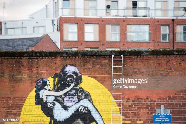 New street art at Culture Night Belfast on September 22 2017 in Belfast Northern Ireland
