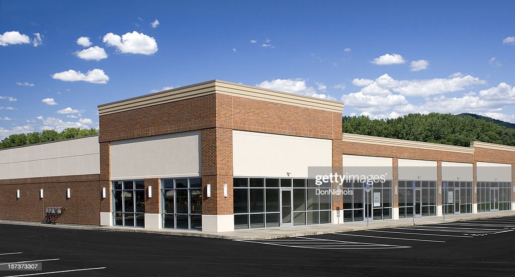 New Strip Mall : Stock Photo