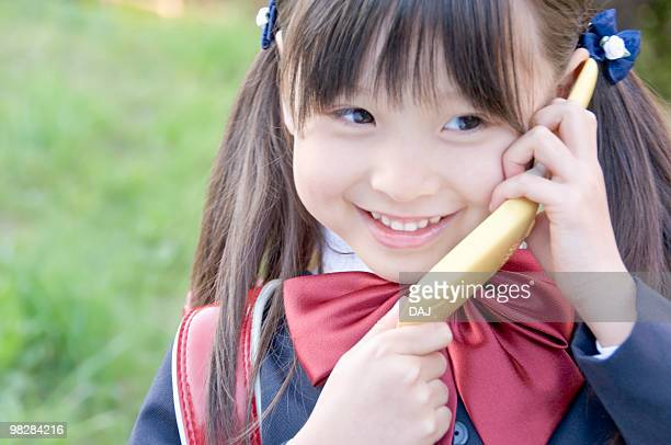 A New Student Talking on the Phone