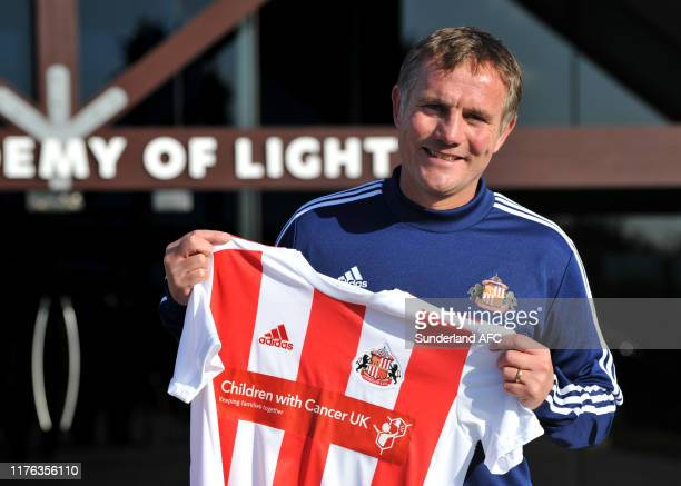 New Sunderland AFC manager Phil Parkinson pictured at The Academy of Light on October 17, 2019 in Sunderland, England.