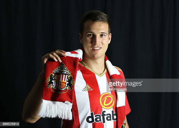 New Sunderland AFC signing Javier Manquillo pictured at the Academy of Light on August 25, 2016 in Sunderland, England.