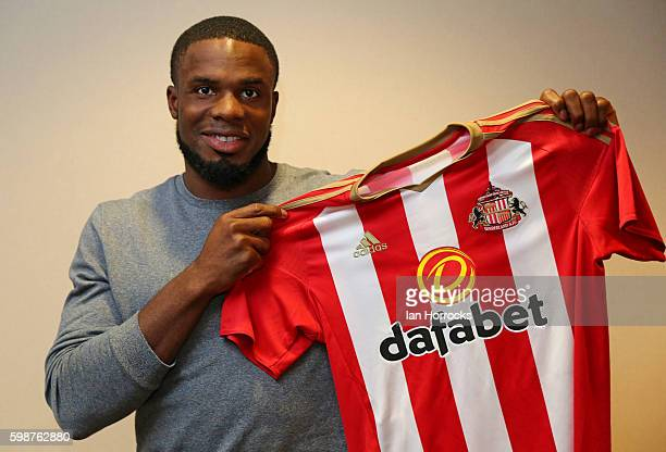 New Sunderland AFC signing Victor Anichebe pictured at the Stadium of Light on September 2, 2016 in Sunderland, England.