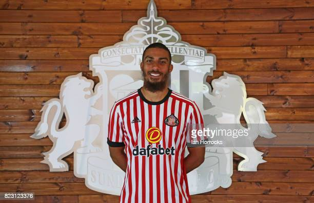 New Sunderland loan signing Lewis Grabban pictured at the Academy of Light on July 26 2017 in Sunderland England