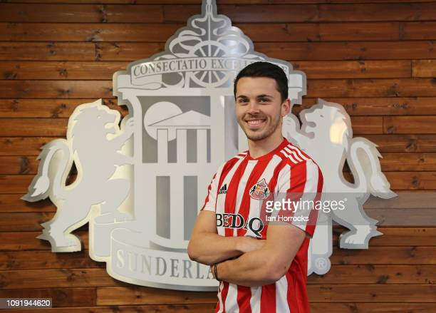 New Sunderland loan signing Lewis Morgan pictured at The Academy of Light on January 30, 2019 in Sunderland, England.