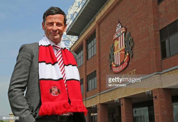 New Sunderland manager Jack Ross is pictured at The Stadium of Light during his first day at work on May 31, 2018 in Sunderland, England.