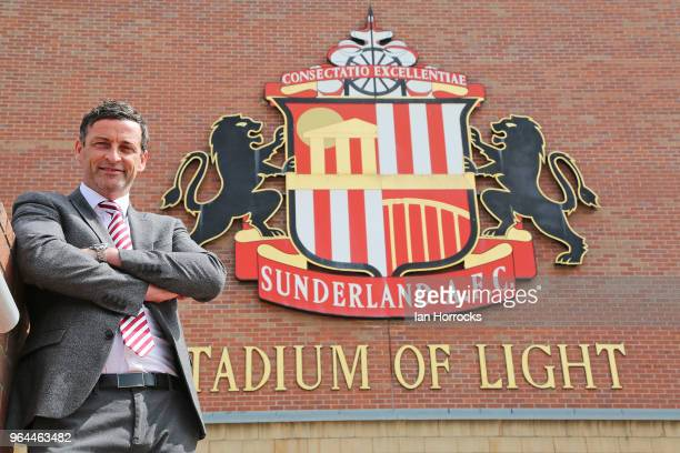New Sunderland manager Jack Ross is pictured at The Stadium of Light during his first day at work on May 31 2018 in Sunderland England
