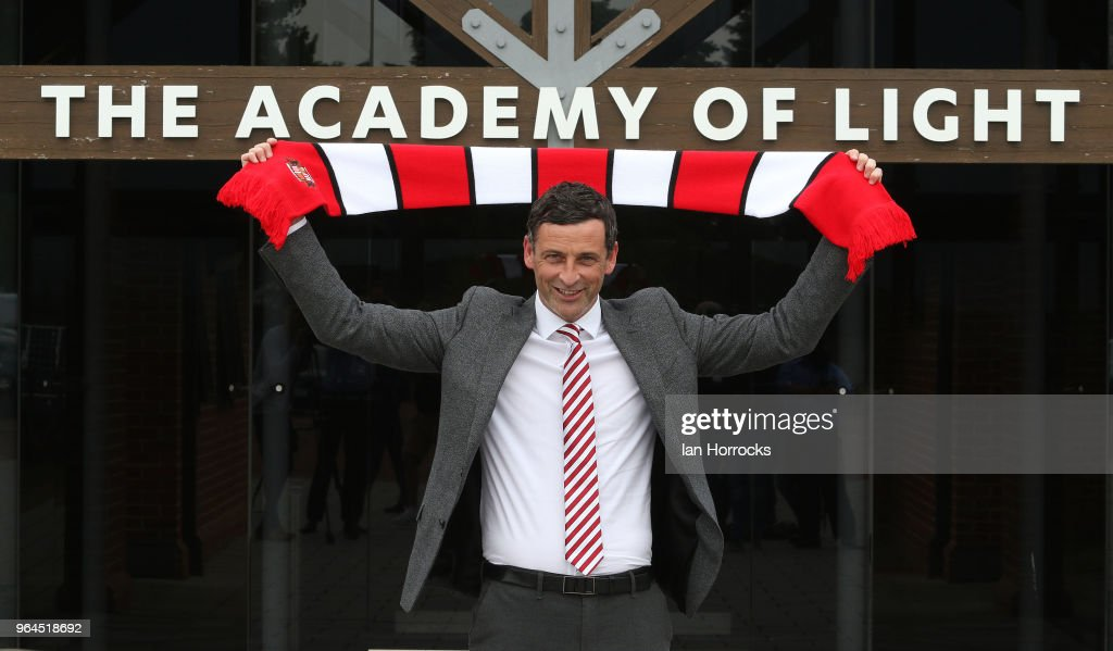 New Sunderland manager Jack Ross poses for pictures after his press conference at the Academy of Light during his first day at work on May 31, 2018 in Sunderland, England.