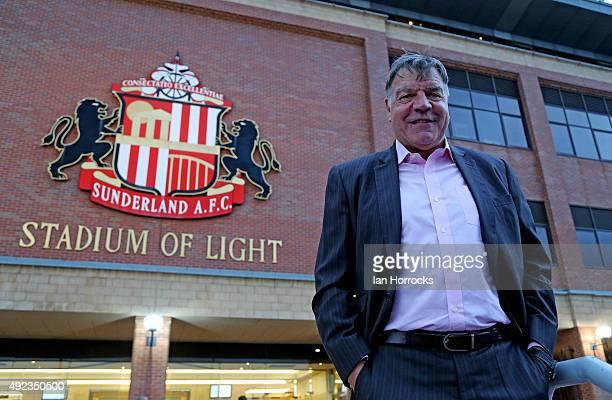 New Sunderland manager Sam Allardyce arrives at the stadium to watch the Premier League U21 International Cup match between Sunderland and Borussia...