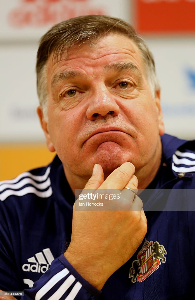 New Sunderland manager Sam Allardyce during a press conference at The Academy of Light on October 13, 2015 in Sunderland, England.