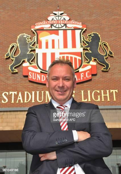 New Sunderland owner Stewart Donald poses outside the ground at the Stadium of Light on May 21 2018 in Sunderland England