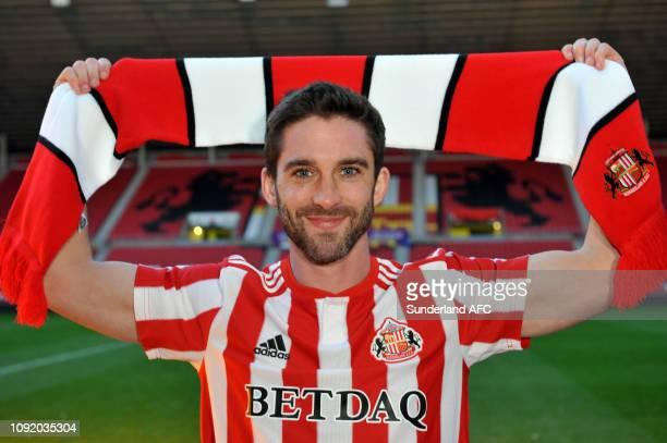 New Sunderland signing Will Grigg at Stadium of Light on February 1 2019 in Sunderland England