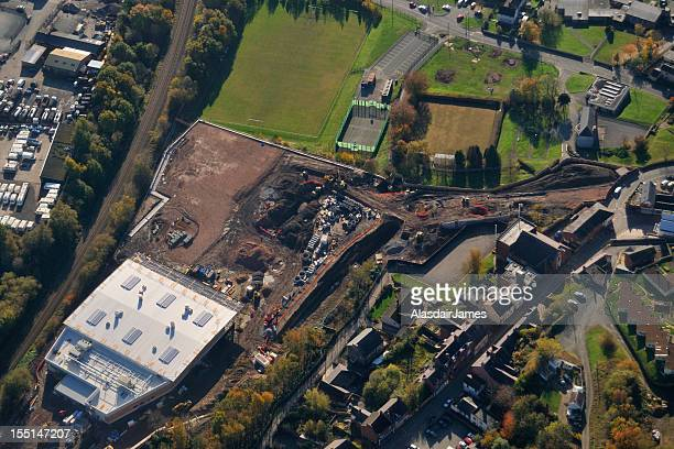 new supermarket construction - wrexham stock pictures, royalty-free photos & images