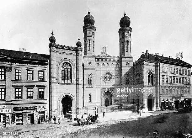 New Synagogue in Budapest Tabakgasse Constructed after plans of Ludwig Foerster architect of the Ringstrasse in Vienna The construction was completed...