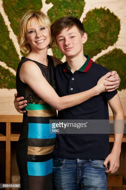 EVENTS New Talent Mixer NBC Portrait Studio Pictured Anne Heche The Brave and son Homer