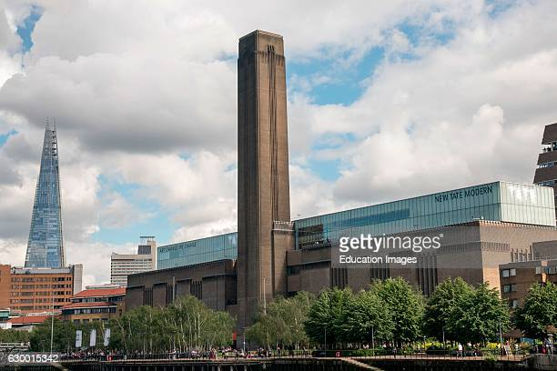New Tate Modern Gallery and the Shard London England