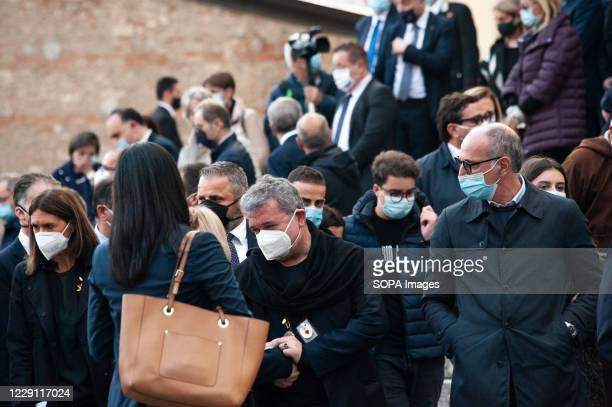 New Temporary Governor Antonino Spirlì attends the funeral ceremony of the Calabria regional governor Jole Santelli at St. Nicholas Church A funeral...