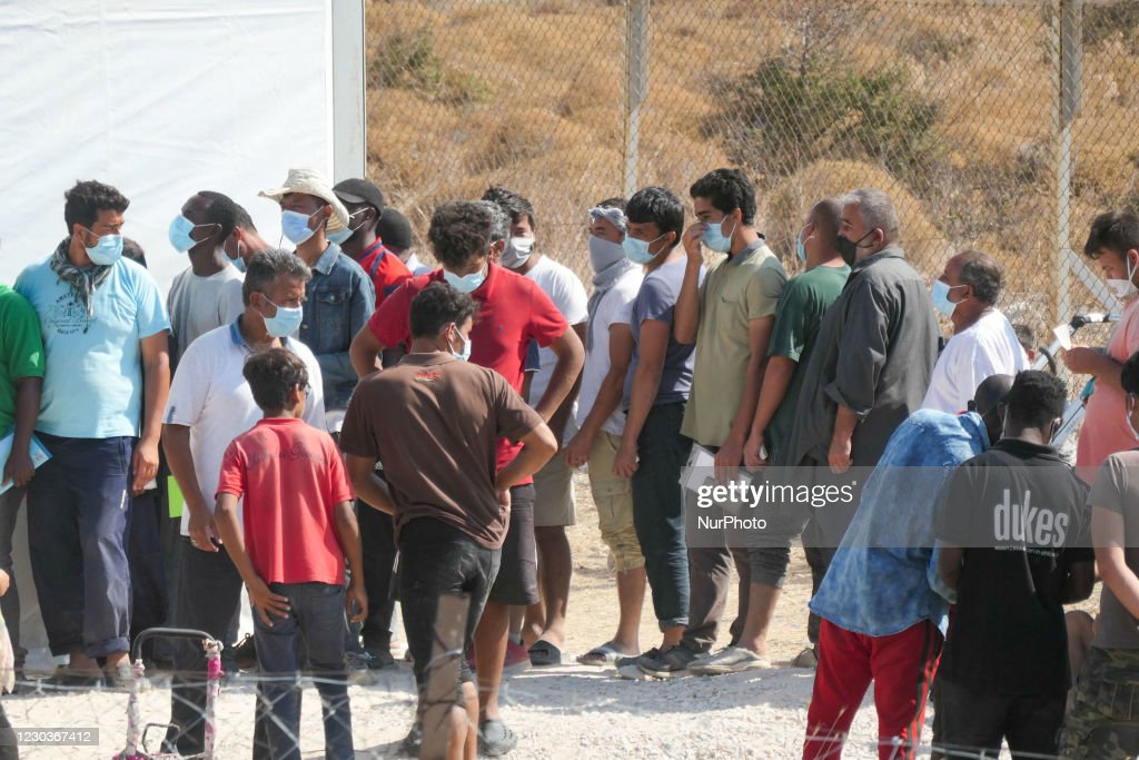 New Temporary Refugee Camp In Lesbos Island : News Photo