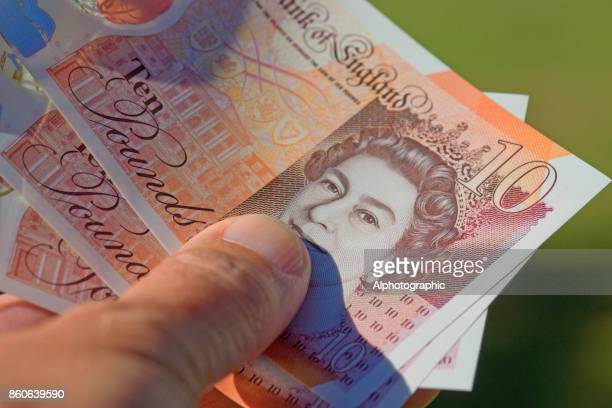 new ten pound note released 2017 - millionnaire stock photos and pictures
