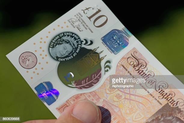 nova nota de dez libras lançado 2017 - nota de dez pounds - fotografias e filmes do acervo