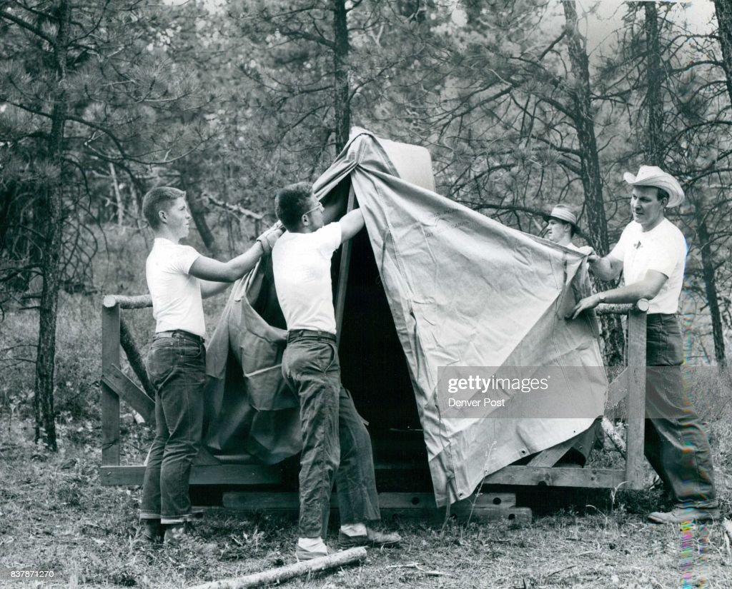 New Tents Go Up At Boy Scout Ranch Ir. C. W. Jeffry Rawlins Wyo & Denver Post Archives Pictures | Getty Images