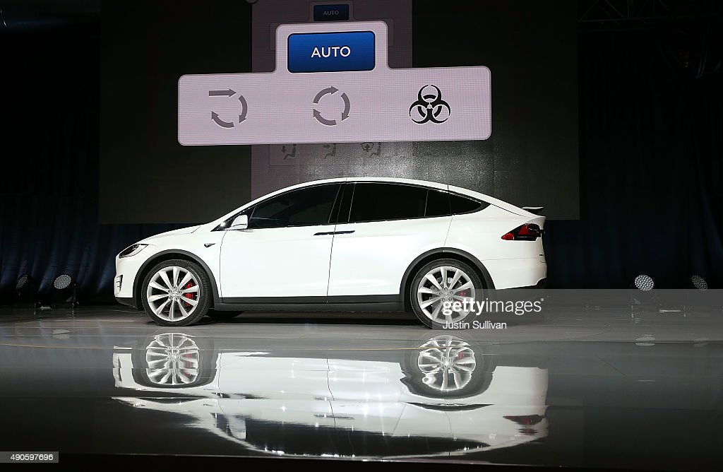 Tesla Debuts Its New Crossover SUV Model, Tesla X : News Photo