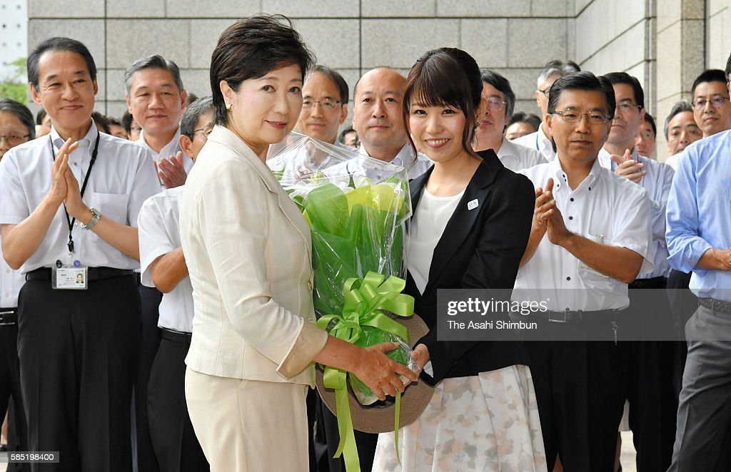 New Tokyo Governor Koike Attend Office