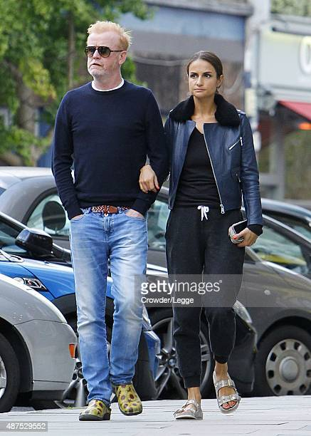 New 'Top Gear' presenter Chris Evans and wife Natasha Shishmanian taking an afternoon stroll on September 8, 2015 in London, England.