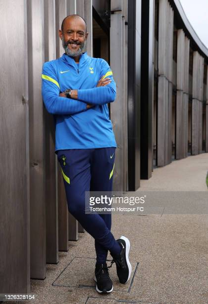 New Tottenham Hotspur manager Nuno Espirito Santo poses for a photo at Tottenham Hotspur Training Centre on June 30, 2021 in Enfield, England.