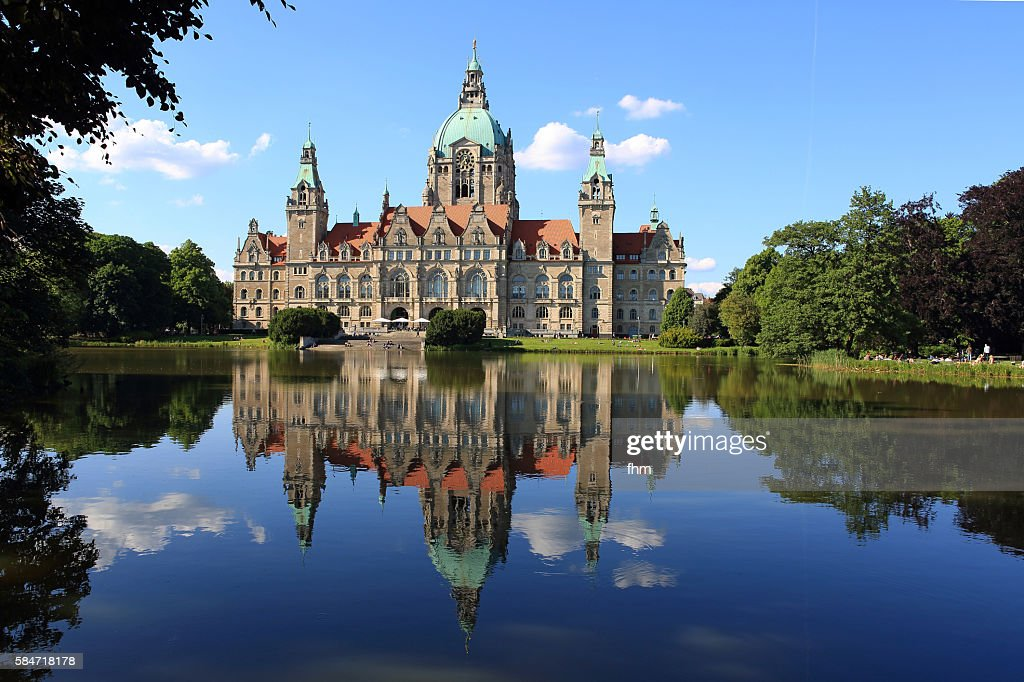 New Town Hall (Neues Rathaus), Hannover/ Niedersachsen/ Germany : Stock Photo